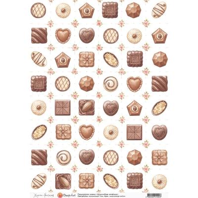 """фото декупажная карта """"шоколадные конфеты"""" 1092-ca"""