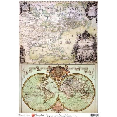 """фото декупажная карта """"путешествие в прошлое"""" 11317-ca"""