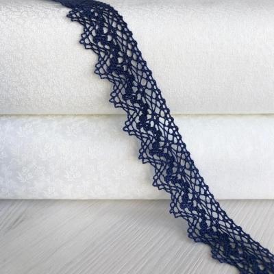 фото хлопковое кружево,   цвет тёмный синий,   ширина 25мм, iemesa