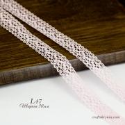 фото хлопковое кружево,    цвет бледно-розовый, ширина 20 мм,     iemesa