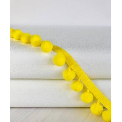 фото тесьма с помпонами,   цвет лимонно - жёлтый, диаметр шарика 20мм