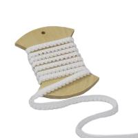 фото тесьма с помпонами, цвет белый, ширина 9мм