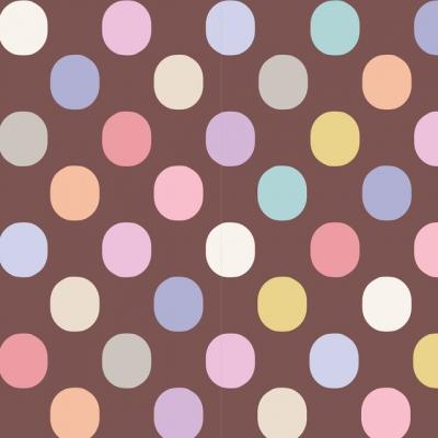 фото ткань tilda plum dot nutmeg, 130060
