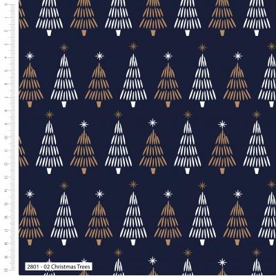 фото ткань с золотым глиттером christmas metallic trees