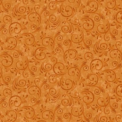 фото  ткань для пэчворка pumpkin swirls by color principle