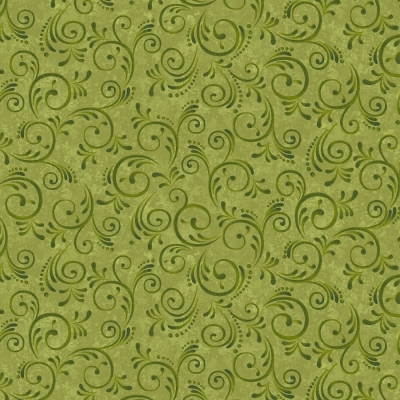 фото  ткань для пэчворка green swirls by color principle