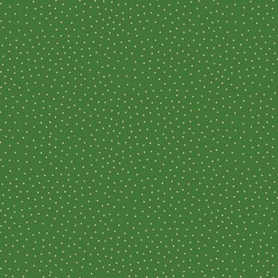 фото  ткань для печворка christmas spot green   с золотым глиттером