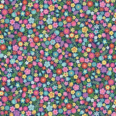 фото ткань daydream blue floral   by makower uk