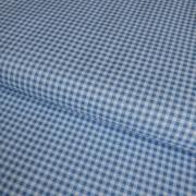 фото  ткань для рукоделия в клеточку cashmere blue
