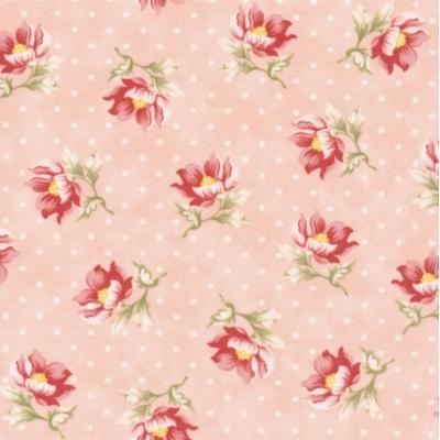 фото  ткань для пэчворка sanctuary blush by moda