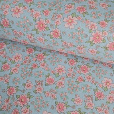 фото  ткань для рукоделия mini print blue