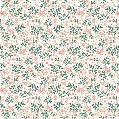 фото  ткань для рукоделия garden mix white