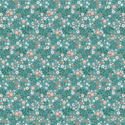 фото  ткань для рукоделия garden mix teal