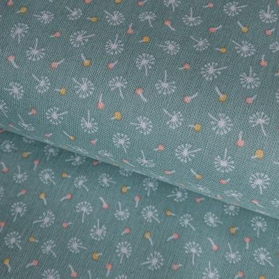 фото  ткань для рукоделия dandelion fluffs teal