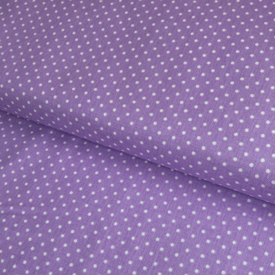 фото  ткань для рукоделия  white swiss dot on lavender