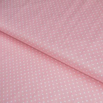 фото  ткань для рукоделия  white swiss dot on babypink