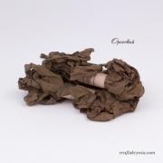 фото шебби-лента, цвет ореховый