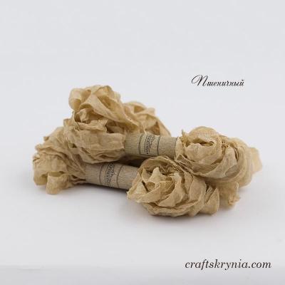 фото шебби-лента, цвет пшеничный