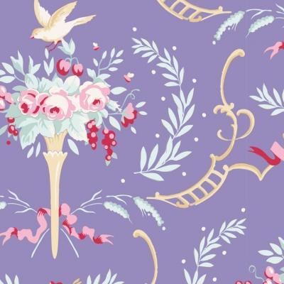 фото ткань tilda old rose birdsong blue, 100215