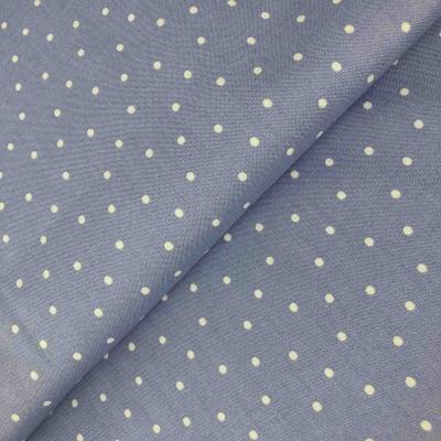 фото ткань в  горошек на серо-голубом