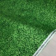 фото  ткань для пэчворка bright green scroll