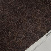 фото  ткань для пэчворка dark chocolate scroll